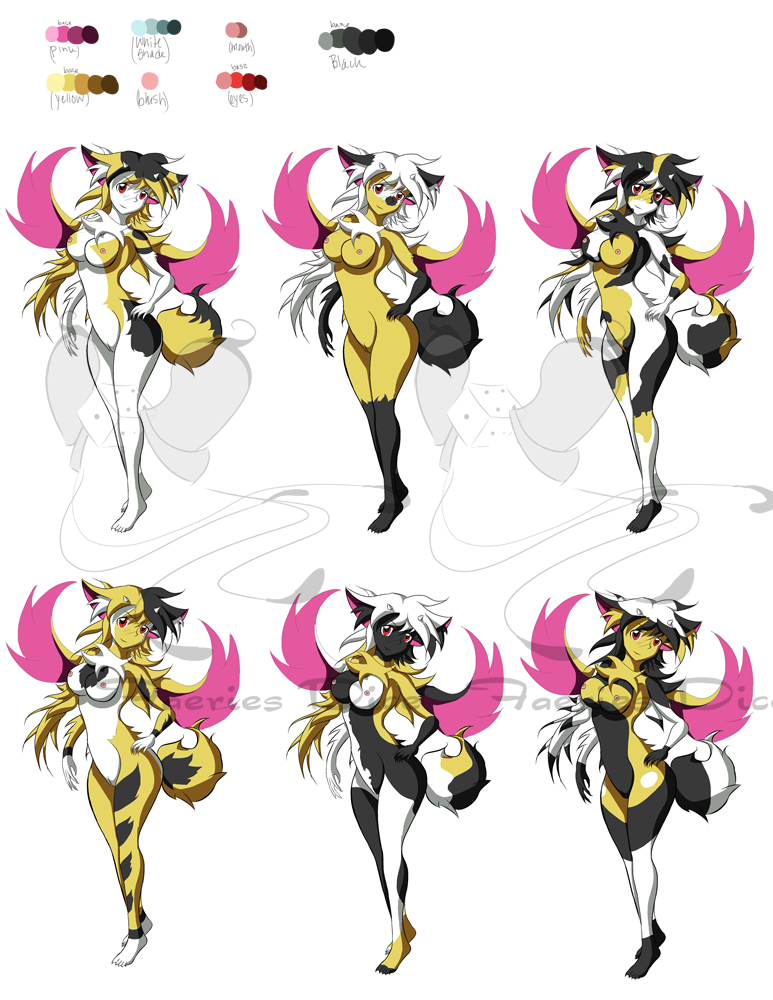 Yuu Female Color Sheet