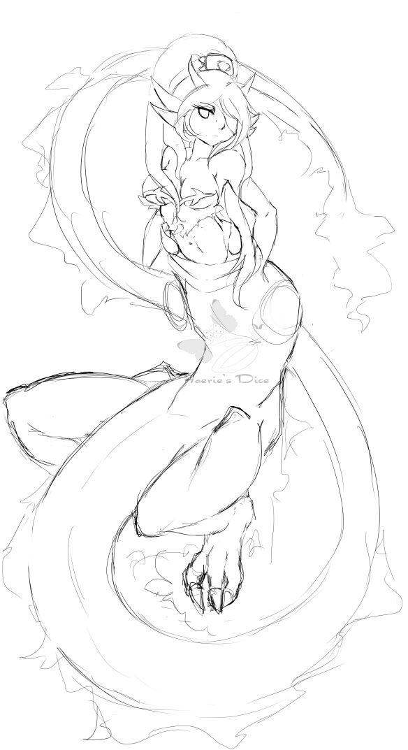 Queen Dragun Dijnn Sketch WIP